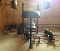 Workout Bench & Weights