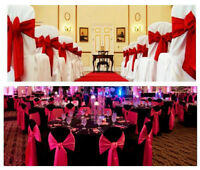 Chair covers for rent only $0.75
