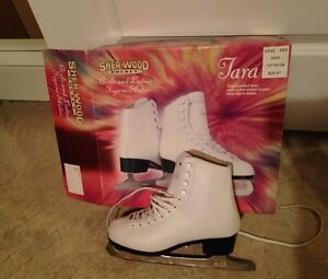 White Figure Junior Ice Skates