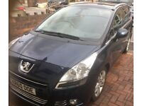 Peugeot 5008 60 1.6 hdi 110bhp exclusive auto 7 seater.
