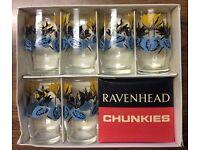 "Vintage Ravenhead ""Chunkies"" Tumblers x 6 Excellent Condition"