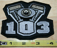 Retro Styled Harley Davidson 103 Cube Patch
