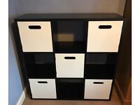 Children's Bedroom Bookcase & Cube Storage Unit