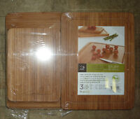 *BRAND NEW* Chi Bamboo Cutting Boards 3 Piece Set