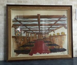 Mid Century Modern Royale Taverne 1963 Painting West Island Greater Montréal image 1