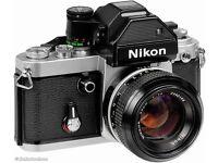 Nikon F2A, original Nikkor lens, with huge amount of accessories