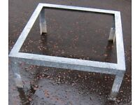 Pair of Heavy Duty Large Galvanised Steel Table Frames 30 inches square 13.25 inches high