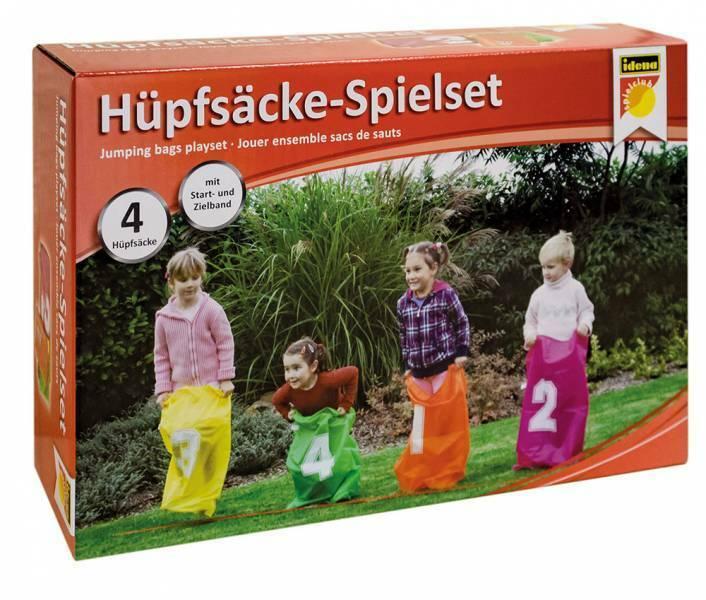 IDENA 4 Hüpfsäcke Hüpfsack Sackhüpfen Kinderspiel für draußen Kindergeburtstag
