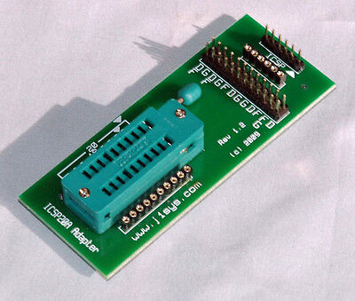 Icsp Adapter Zif 1820a Pin Pic Use With Pickit 2 Or 3