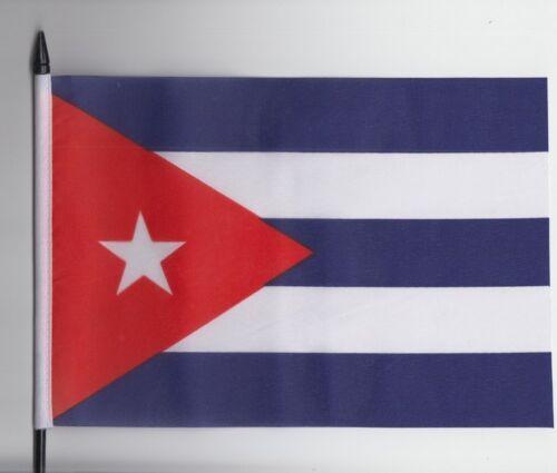 Cuba Medium Hand Waving Flag