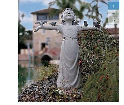 Outdoor Lawn Patio Home Welcome Garden Yard Statue Sculpture Art Decor Children