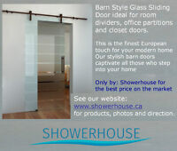 Sliding Door with decorative Glass $ 549.00