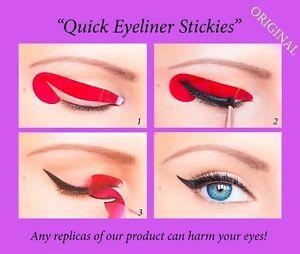80 pcs Quick Eyeliner Stickies Stencil Sticker Eye Make up Tool Cat ORIGINAL AU1