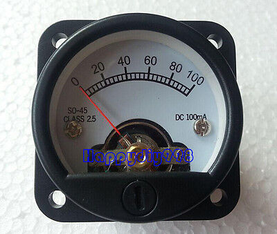 1pc So-45 100ma Vu Panel Meter For 300b 2a3 Kt88 845 Tube Amplifiers