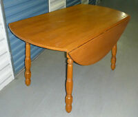 Large Wood Table with Folding Sides