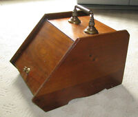Antique Wooden Coal Holder, Perfect For Your Hearth, circa 1910