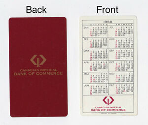 1968 CIBC CANADIAN IMPERIAL BANK WALLET BILLFOLD CALENDER