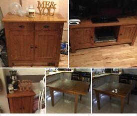 Oak Living/Dining Room Furniture