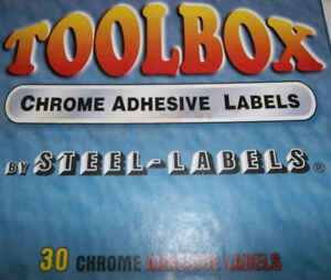 TOOL BOX DRAWER LABELS & WRENCH & SOCKET LABELS