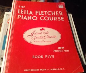 THE LEILA FLETCHER PIANO COURSE BOOK 5. MONTGOMERY MUSIC INC. Gatineau Ottawa / Gatineau Area image 1