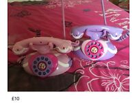 Disney princess intercom telephones