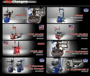 MOTORCYCLE LIFTS - TIRE CHANGERS - WHEEL BALANCERS - STANDS