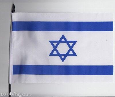 Israel Medium Hand Waving Flag