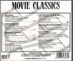 Movie Classics (Madacy) - 2 CDs West Island Greater Montréal image 4