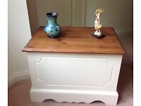 Upcycled Shabby Chic Chest / Toy box / Coffee Table Farrow & Ball Painted