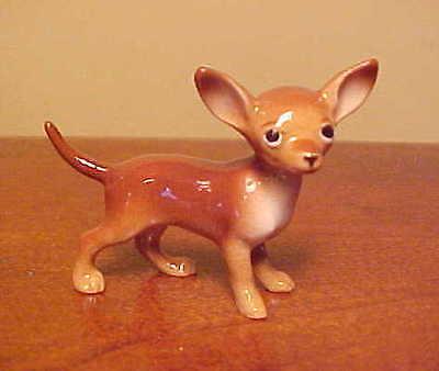 """Hagen-Renaker Mini #035 CHIHUAHUA in """"Brown"""" - Miniature Ceramic Dog Figurine"""