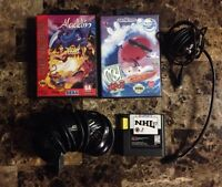 Sega Genesis games and accessories for sale.
