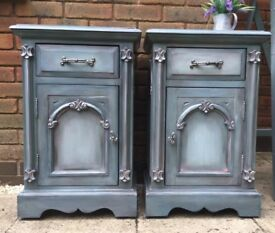 Beautiful Upcycled bedside cabinets