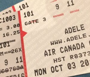 Two Tickets for Adele at ACC - This MONDAY - October 3rd 7.30pm