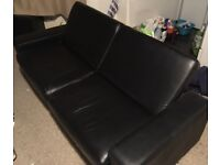 Faux leather sofa bed -Free as needs to go asap