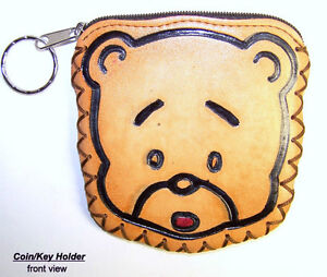 Coin/key holder/pouch, leather, pocket or purse, new, delightful