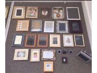 25 photograph frames - good condition