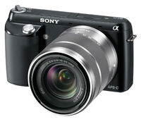 EXCELLENT CONDITION SONY NEX-F3 16.1 MP CAMERA W/ 18-55mm LENS