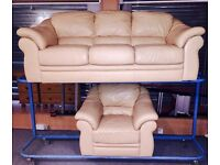 Cream leather suite (Delivery Included)