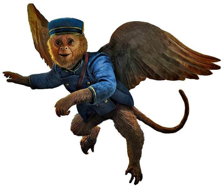 Disney OZ THE GREAT AND POWERFUL Finley Flying MONKEY - WindoCling Decal Sticker