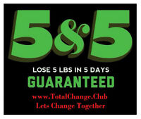 90 Day Weight Loss Challenge.  5 Lbs in 5 Days