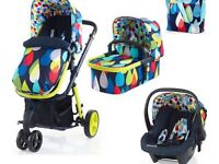 3in 1 cosatto giggle 2 hold 3 in 1 travel system push chair/buggy