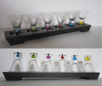 Set of 6 Controlled Bubble Base Shot Glasses With Display Stand Peterborough Peterborough Area Preview