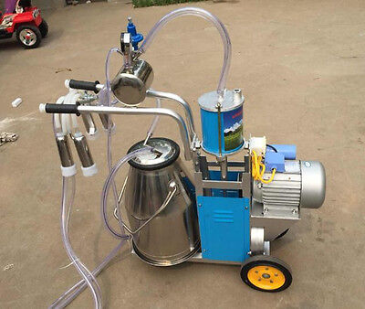 Ce Electric Milking Machine For Farm Cows Bucket Bid Sale Only Milker Piston