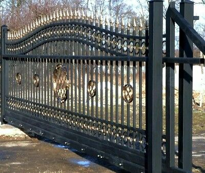 AUTOMATIC CANTILEVER GATE GALVANIZED AND POWDER COATED 12ft opening