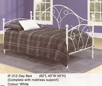 SALE 30% OFF - BRAND NEW SINGLE SIZE METAL DAY BED