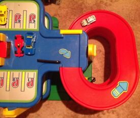 Childs toy car park plus