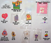 Vintage lapel PINS, butterfly catch, excellent - like new $3-$20