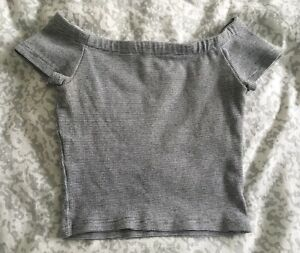 SELLING: Zara cropped off the shoulder top