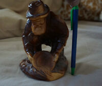 Vintage Wooden Miner Carving - Great Condition! LOOK!