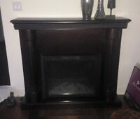 DARK BROWN WOOD CHIMNEY IN PERFECT CONDITION!!!